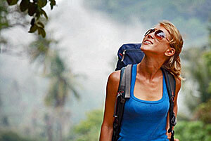 backpacker in costa rica