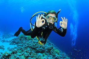 scuba diving in samara